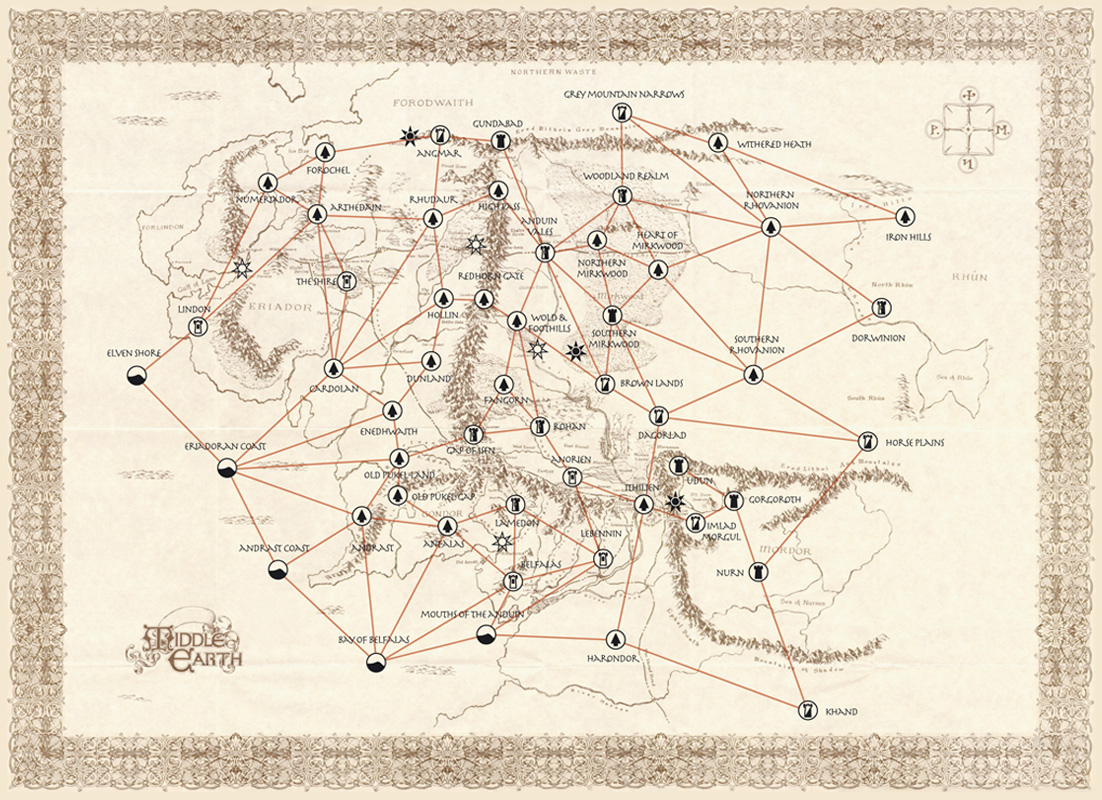 MECCG for Lackey – Best Middle Earth Map